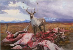 Osborne Caribou  2012flash acrylic on Tyvek 99 x 144 inches (8.25 x 12 ft)
