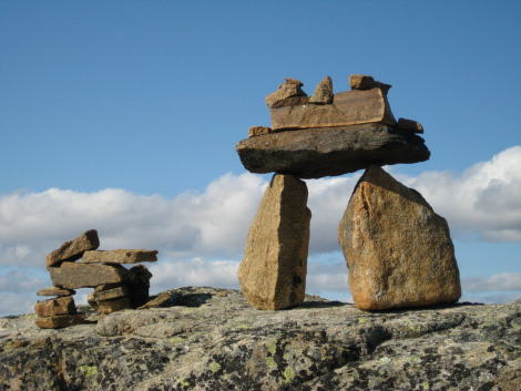 Inuksuk on Baffin Island in the territory of Nunavut.