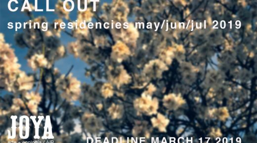 Joya: arte + ecología / AiR is now accepting applications for residencies between 1st May and 14th July 2019.