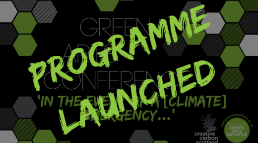 Green Arts Conference Programme and Session Registration Launched
