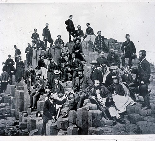 Image: A meeting of the Belfast Naturalists' Field Club at the Giant's Causeway, 11 June, 1868. Photograph © National Museums Northern Ireland Collection Ulster Museum